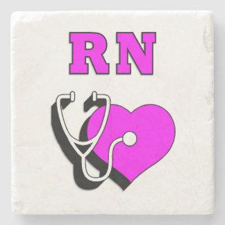 RN Nurses Care Stone Coaster