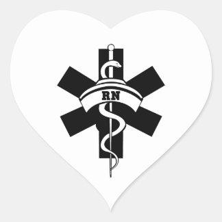 RN Nurses Heart Sticker