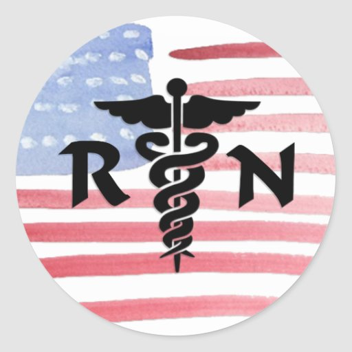 RN Nurses Medical Symbol Classic Round Sticker