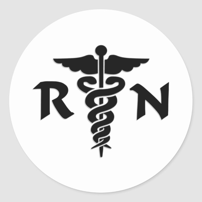 RN Nurses Medical Symbol Classic Round Sticker