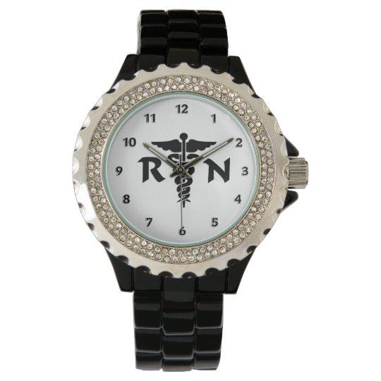 RN Nurses Medical Symbol Wristwatch