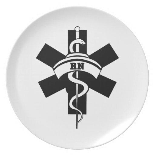 RN Nurses Dinner Plates