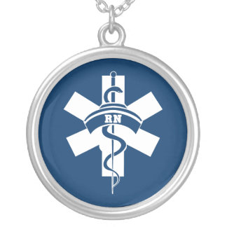 RN Nurses Silver Plated Necklace