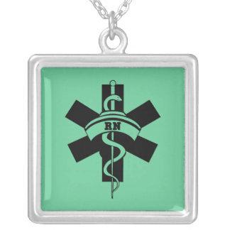 RN Nurses Square Pendant Necklace