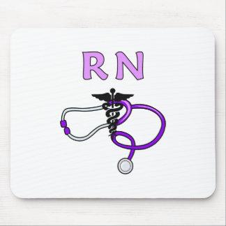 RN Nurses Stethoscope Mouse Pad