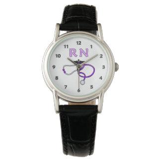 RN Nurses Stethoscope Wristwatch