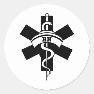 RN Nurses Round Stickers
