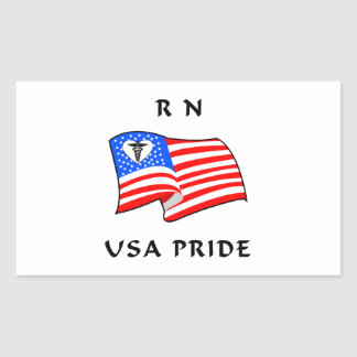 RN Nurses USA Pride Rectangular Sticker