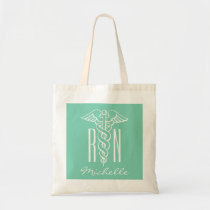 RN nursing caduceus tote bag for registered nurse