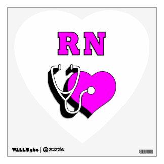 RN Nursing Care Wall Decal