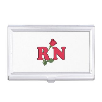 RN Nurse Rose Business Card Case