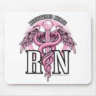 RN Pink Caduceus Mouse Pad
