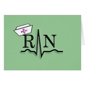 RN QRS Nurse Cap Design Card