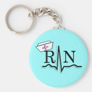 RN QRS Nurse Cap Design Key Chain