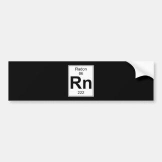 Rn - Radon Bumper Sticker