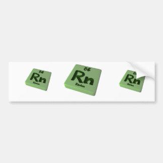 Rn Radon Bumper Sticker