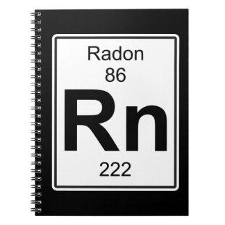 Rn - Radon Spiral Notebook