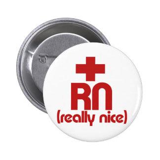 RN Really Nice Nurse Graduation 2 Inch Round Button