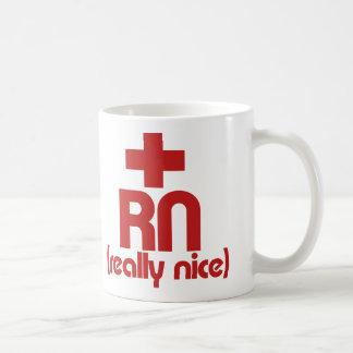RN Really Nice Nurse Graduation Coffee Mug