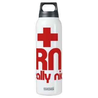 RN Really Nice Nurse Graduation Insulated Water Bottle