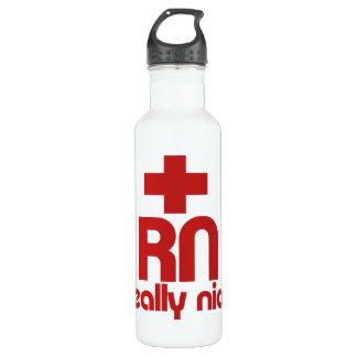 RN Really Nice Nurse Graduation Stainless Steel Water Bottle