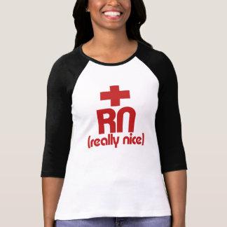 RN Really Nice Nurse Graduation T-shirt