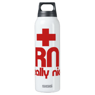 RN Really Nice Nurse Graduation Thermos Bottle