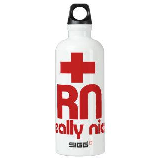 RN Really Nice Nurse Graduation Water Bottle