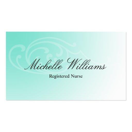Rn registered nurse aqua business cards zazzle for Nurse business cards