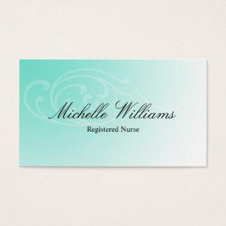 RN Registered Nurse Aqua Business Cards