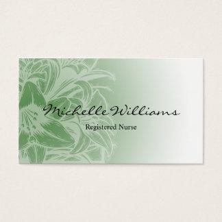 RN Registered Nurse Flower Business Cards