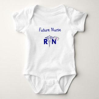 RN (Registered Nurse) Gifts-Embossed Style Baby Bodysuit