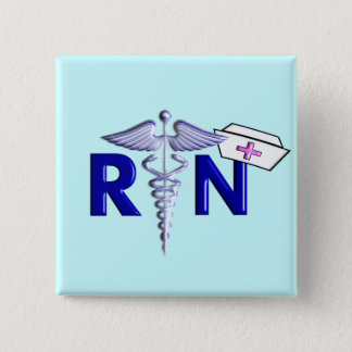 RN (Registered Nurse) Gifts-Embossed Style Pinback Button
