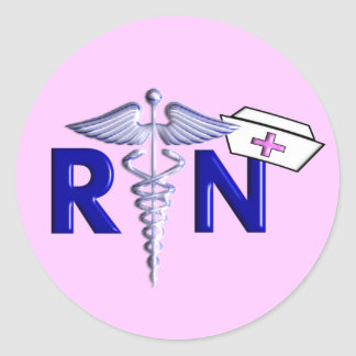 RN (Registered Nurse) Gifts-Embossed Style Round Stickers