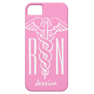 RN Registered Nurse iPhone case | Pink caduceus
