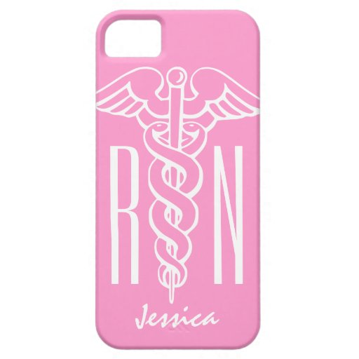 RN Registered Nurse iPhone case | Pink caduceus Case For iPhone 5/5S