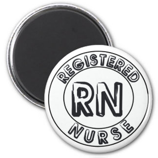 RN REGISTERED NURSE LOGO BADGE MAGNET
