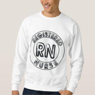 rn logo gifts on zazzle Emergency RN rn registered nurse logo badge sweatshirt