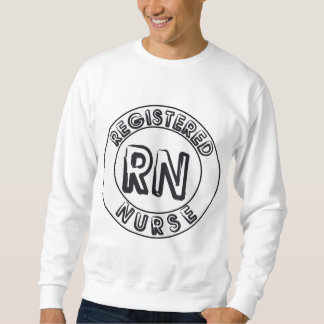 RN REGISTERED NURSE LOGO BADGE SWEATSHIRT