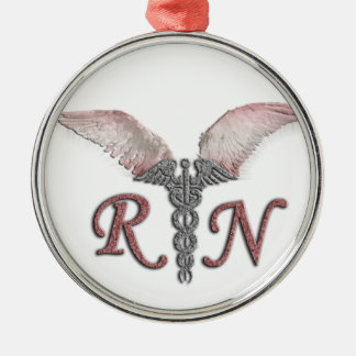 RN Registered Nurse with Angel Wings Ornament