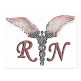 RN Registered Nurse with Angel Wings Postcard