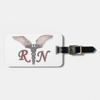 RN Registered Nurse with Angel Wings Tag For Luggage