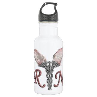 RN Registered Nurse with Angel Wings Water Bottle