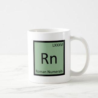 Rn - Roman Numerals Chemistry Periodic Table Coffee Mug
