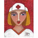 RN rubio - ornamento del navidad de la enfermera d Esculturas Fotográficas
