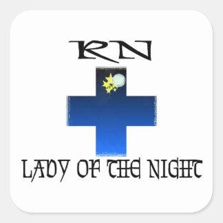RN-Señora de la noche Pegatina Cuadrada