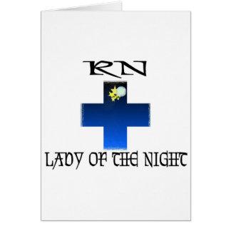 RN-Señora de la noche Tarjeta De Felicitación