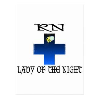 RN-Señora de la noche Tarjeta Postal