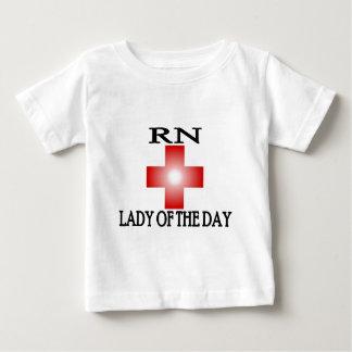 RN-Señora del día Playera De Bebé