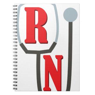RN Stethescope Spiral Notebook
